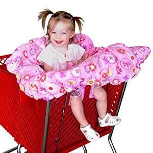 Floppy Seat® Shopping Cart and High Chair Cover, EZ Carry Bag™ Style -Pink Floral