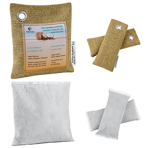 Air Purifying Bag, Kitchen Komforts 3 Pack Natural Activated