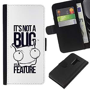 BearCase / Cuero de la tarjeta la carpeta del tirón Smartphone Slots Protección Holder /// LG G2 D800 /// Divertido No es un error