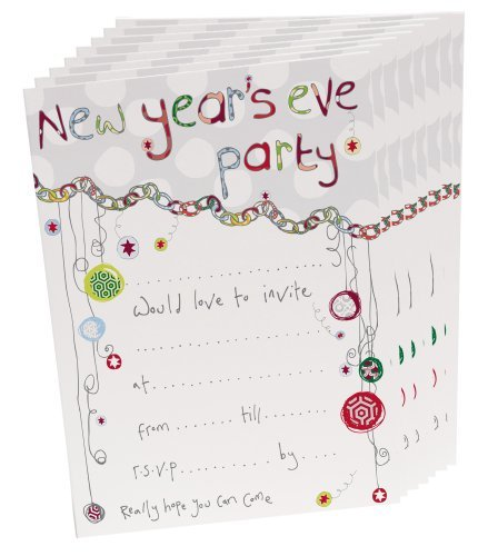 pack of 8 new years eve party invitations new year party invites