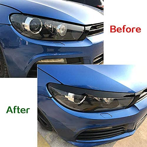 Sothat Car Headlight Eyebrow Sticker Decoration For Scirocco Gts 2008-2017 Accessories Car Styling Black