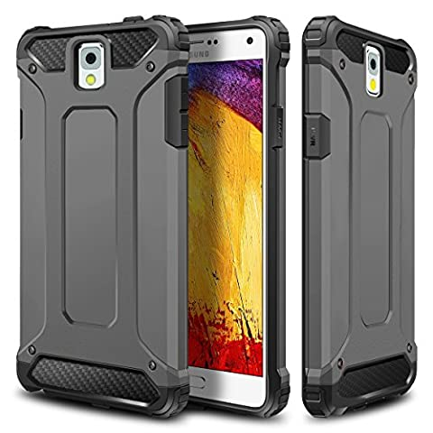 Galaxy Note 3 Case,Wollony Rugged Hybrid Dual Layer Hard Shell Armor Protective Back Case Shockproof Cover for Galaxy Note 3 Case - Slim Fit - Heavy Duty - Impact Resistant (Galaxy Note 2 3 Layer Case)