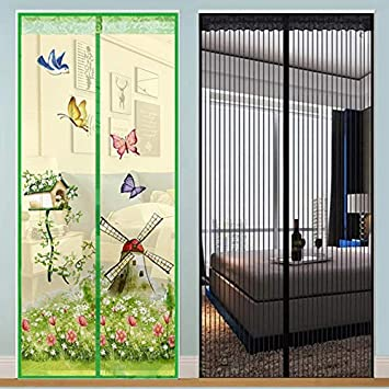 Magnetic Curtains Door Screen Anti-insect Curtain Mosquito Net for Home #8Y