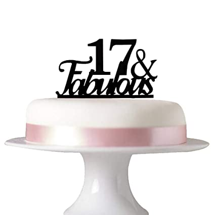 Image Unavailable Not Available For Color 17 Fabulous Cake Topper 17th Birthday