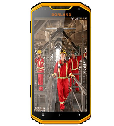 DORLAND Multi 8 Explosion-proof IP68 Rugged mobile phone, Intrinsically Safe For Oil & Gas Industry and Hazardous Areas, Waterproof Dustproof Shockproof 4G Android 5.0 Dual SIM GPS Navigation (Intrinsically Safe Explosion Proof)