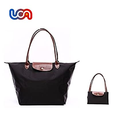 UCA Bolsa plegable para la compra,color negro: Amazon.es: Hogar