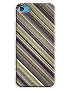 Diagonal Stripes Smart Look Stylish iPhone 5c Hard Case Cover