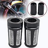 2Pcs Black Aluminum Pair Dense Holes Slider Fork Boot Cover For Harley Touring FLT FLHT FLHR 1986-2013