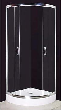 Mampara de Ducha 80 x 80 cm curvo,Acrílico sanitario,Perfecta con Baños Modernos: Amazon.es: Bricolaje y herramientas