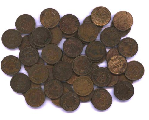 Full Roll of Full Date Indian Head Pennies: PRE 1900 by US Mint