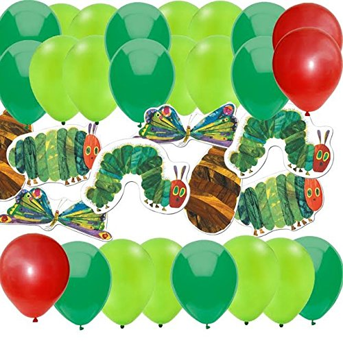 84 Pc Hungry Caterpillar Cut-Out Decorations & Party Balloons (Hungry Caterpillar Party Decorations)