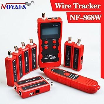 NOYAFA NF-868 W Inglés Versión LAN Tester LAN Cable Tester UTP Cable Tester para