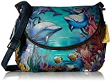 Anuschka Large Flap-Over Convertibledolphin World, Dolphin World