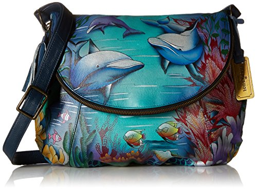 Large Anuschka LL Convertible Over World Dolphin Flap 0q7dqvw6
