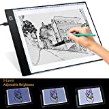 Tracing Light Box, LED Light Table for Tracing Drawing Portable A4 17 Inch Light Pad Ultra-Thin Brightness Adjustable Light Board Pad with Scale Panel for Animation Photography Sketching X-Ray
