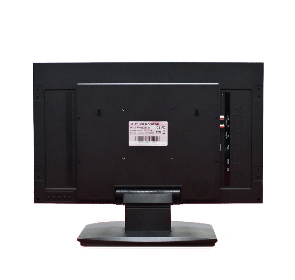 HDMI CVBS Loop Out Built-in Speaker. 1920 x 1080 High Definition VGA and CVBS Input AVUE 19.5 CCTV Security Monitor