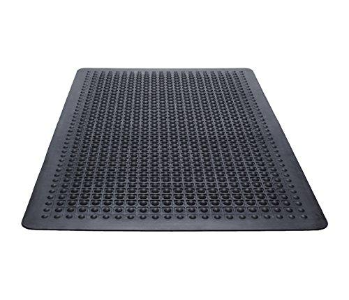 Guardian Flex Step Antifatigue Floor Mat, Rubber, 2'x3', Black