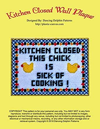 Kitchen Closed Wall Plaque: Plastic Canvas Pattern (English ...