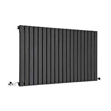 Radiateur Horizontal Acier Noir Mat Design Moderne   635 X 1180mm 1294W    Cuisine Salle De