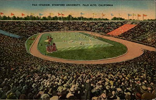 (Stadium, Stanford University Palo Alto, California Original Vintage Postcard)