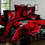 Duvet Cover Set,3D Oil Painting Bed in a BagBedding Sets (Queen-3 Pcs)