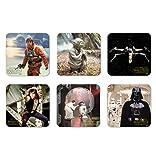 Film - Star Wars - Heroes Of The Galaxy - Set of coasters - Set of 6 Drinks Mats - multicoloured - Licensed original design - Logoshirt