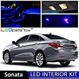 LEDpartsNow 2011-2014 Hyundai Sonata LED Interior Lights Accessories Replacement Package Kit (8 Pieces), BLUE