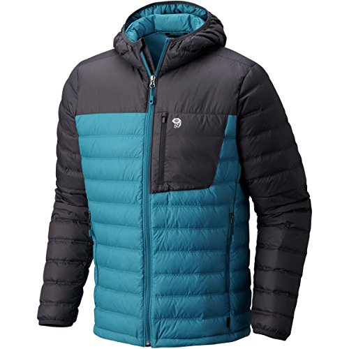 Ripstop Hooded Down Jacket (Mountain Hardwear Men's Dynotherm¿ Hooded Down Jacket crevasse Large)