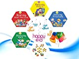 Akhlaaq Series Eid Goody Gift Pack 1 : 4 Akhlaaq series books based on Islamic Manners, Eid Mubarak Happy Eid Swirls, Eid Balloons & Goody Bag