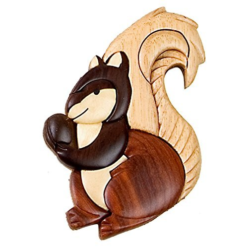 [Squirrel Wooden Magnet] (Rocky Bullwinkle Costume)