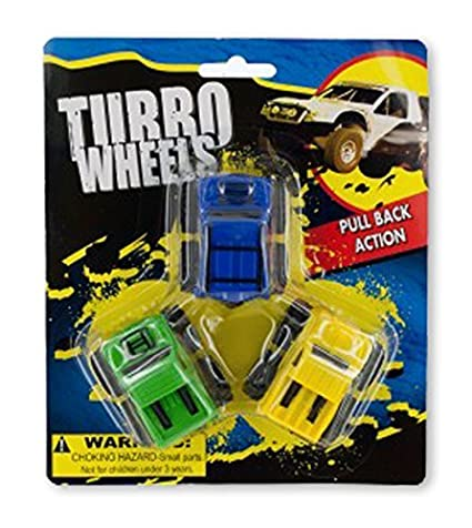 Pull Back Turbo Trucks - 2 Sets of 3-piece each
