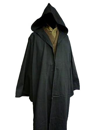 001f22d5c3f Amazon.com  Black Sith Robe Jedi Cloak Anakin Costume Dark Side Star Wars   Clothing