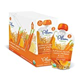 Plum Organics Stage 2, Organic Baby Food, Hearty Veggie, Butternut Squash, Carrot, Chickpea and Corn, 3.5 ounce pouch (Pack of 12)