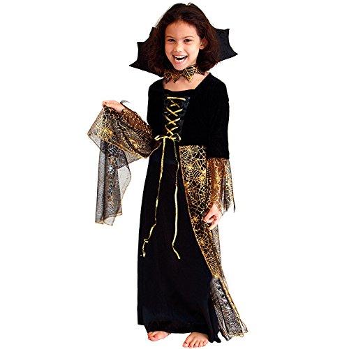 Translucent Horn Hülsen-Schwarz-Der strappy Mädchen Halloween-Kostüme