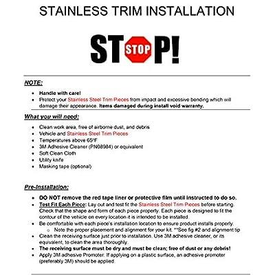 QAA fits 2008-2015 Honda Accord 4 Piece Stainless Pillar Post Trim PP28281: Automotive