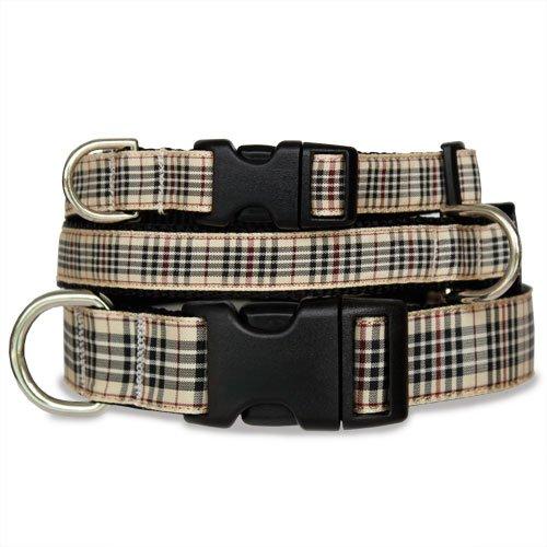 London Furberry Plaid Dog Collar, My Pet Supplies