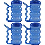 Arrow Plastic 14 oz. Sip-A-Mug with Built-in Straw (Blue) (Pack of 4)
