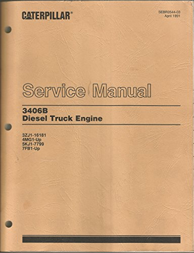 CAT Caterpillar 3406B Diesel Truck Engine Service Manual