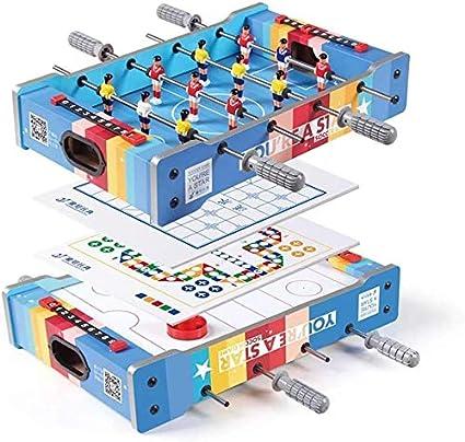 YUHT Mesa multijuegos,4 en 1 Combo Juego Tabla de combinación de Juego de Mesa Multi Juego Juego de Mesa - Portátil de Mesa de futbolín - Hockey - ajedrez Chino - Ludo