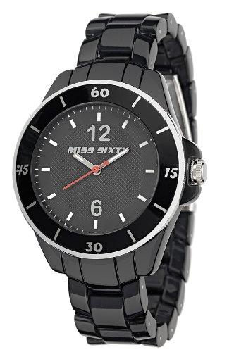 Miss Sixty R0751111501 - Reloj analógico de Cuarzo para Mujer con Correa de plástico, Color Negro: Amazon.es: Relojes