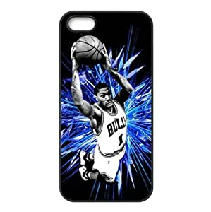 Chicago Bulls Derrick Rose Image Theme Back TPU Case for iPhone 5/5s-by Allthingsbasketball