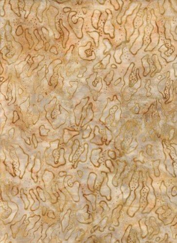 Kaufman Bali Batik (Java Block Printed (Tjap Printed) Tan Sand Animal Print Batik Bali Tie Dye (Ikat) ~ HALF YARD ~ Robert Kaufman AMD-13119-267 Adventure Kalahari 3 Quilt Fabric 100% Cotton 45