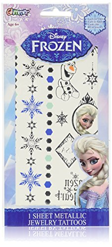 Disney Frozen Princess Elsa Metallic Jewelry Tattoo Kit (Disney Frozen Tattoos)