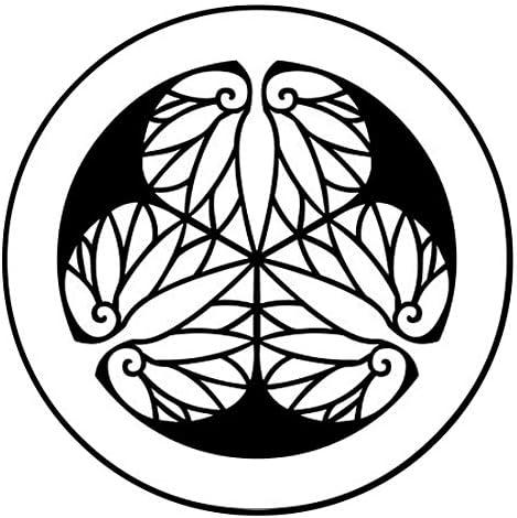 家紋シール 「徳川葵」6枚入 男性紋・女性紋・子供サイズ・黒地用・白地用 貼付け家紋 着物用 KOM135