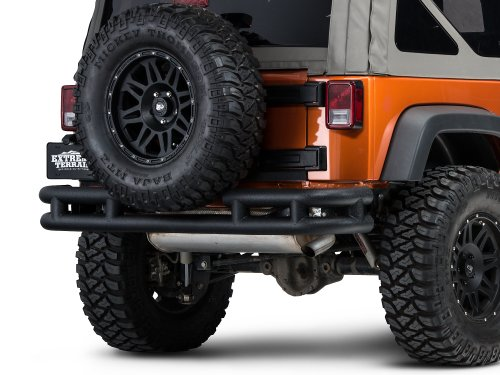 Tubular Rear Bumpers Jeep - Barricade Rear Tubular Bumper w/Wrap-around in Textured Black - Jeep Wrangler JK 2007-2018