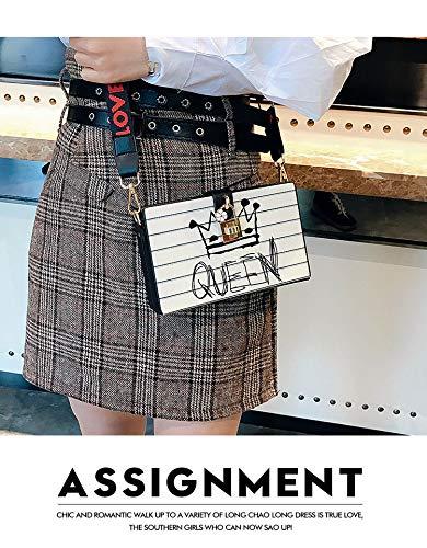 Reine à Femmes Mini la main lettres de dames bandoulière Bag Sac à Couronne Party Boîte mode Reine Pnizun Design Pochette Messenger sac bandoulière qtpp7B