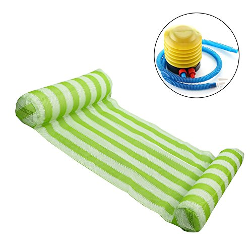 MokenEye Pool Float Swimming Pool Floating Water Hammock Lounge Green