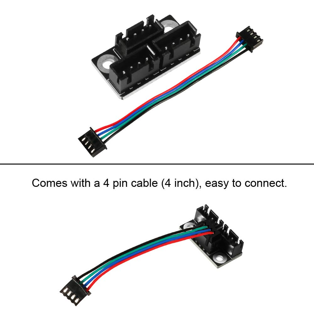 1pcs 3D Printer Stepper Motor Parallel Module with 100mm Cables for Double Z Axis Dual Z Stepping Motors Reprap Prusa Lerdge 3D Printer Board Aokin 3D Printer Parts and Accessories