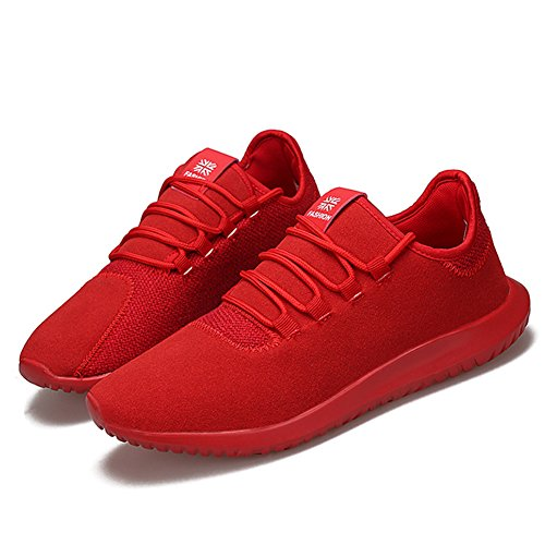 HONGANG Running Shoes, Classic Fashion Running Shoes with Mesh Breathable Lightweight for Outdoor Gym Running Shoes. Red
