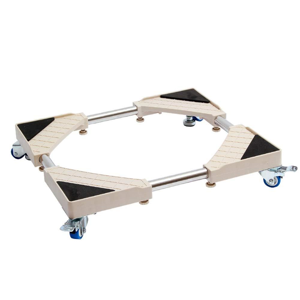 JUFU Moving Tool Furniture Mover Automatic Drum Washing Machine Base pad high Bottom Shelf Universal Wheel Movable Universal Bracket Refrigerator Bracket @@